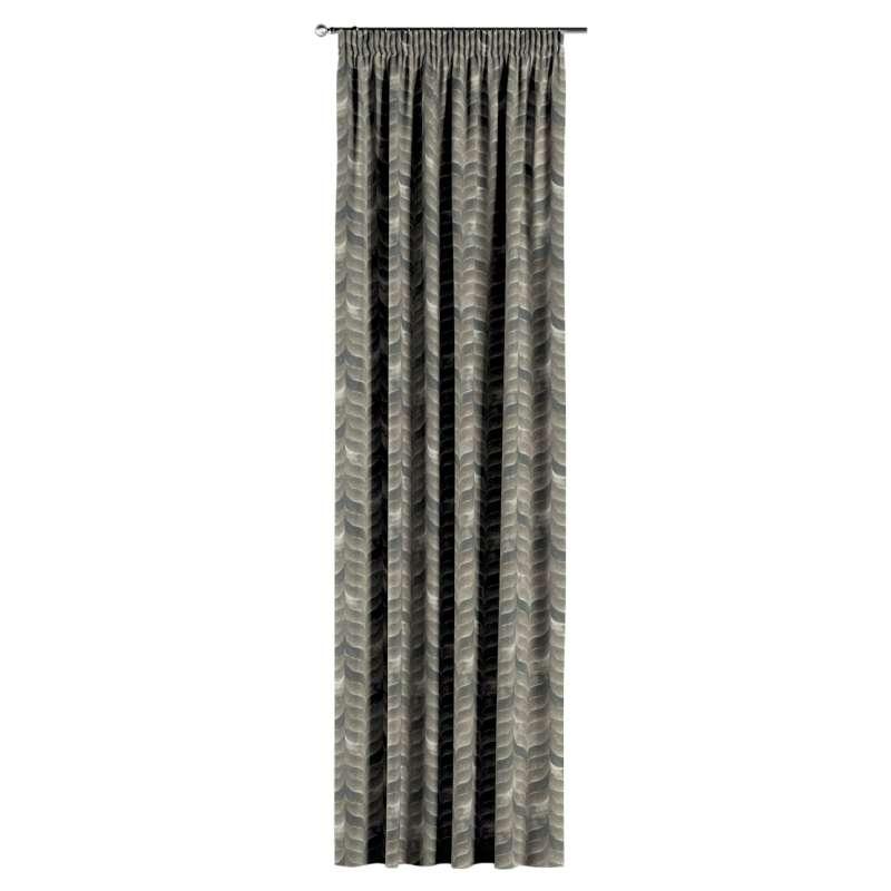 Gardin med rynkband 1 längd i kollektionen Abigail, Tyg: 143-12