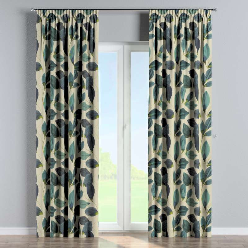 Pencil pleat curtains in collection Abigail, fabric: 143-15