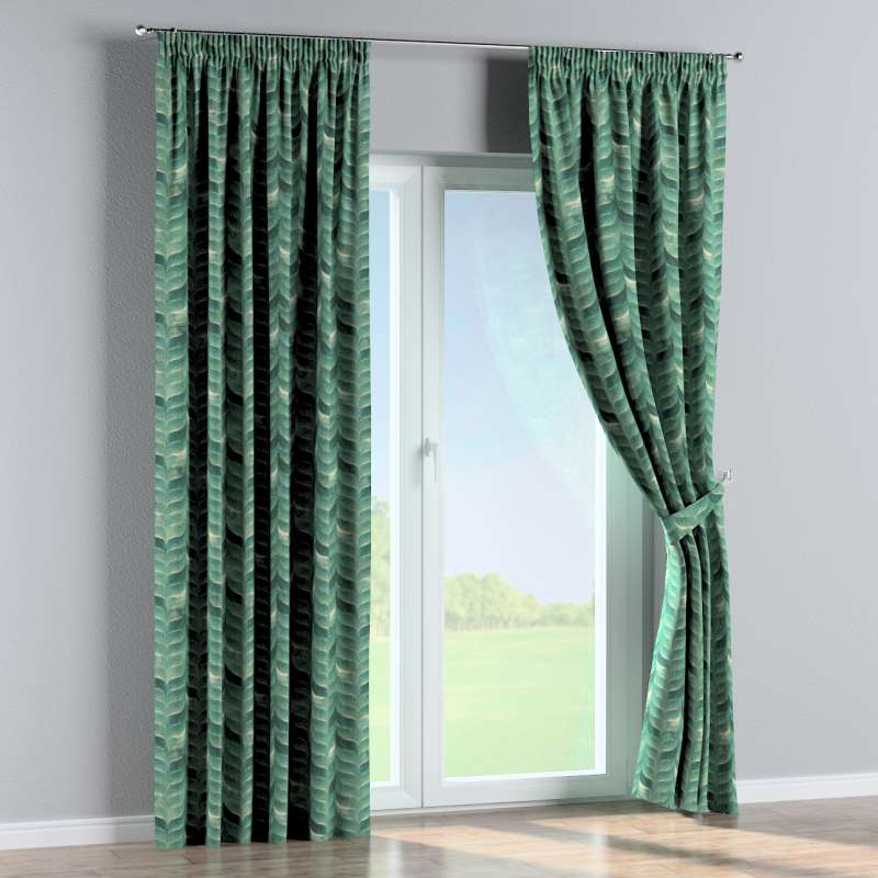 Pencil pleat curtain in collection Abigail, fabric: 143-16