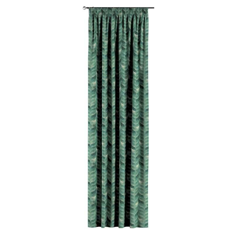 Gardin med rynkband 1 längd i kollektionen Abigail, Tyg: 143-16