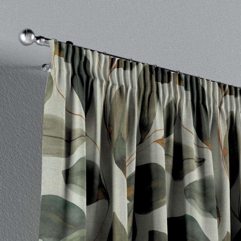 Vorhang mit Kräuselband von der Kollektion Abigail, Stoff: 143-17