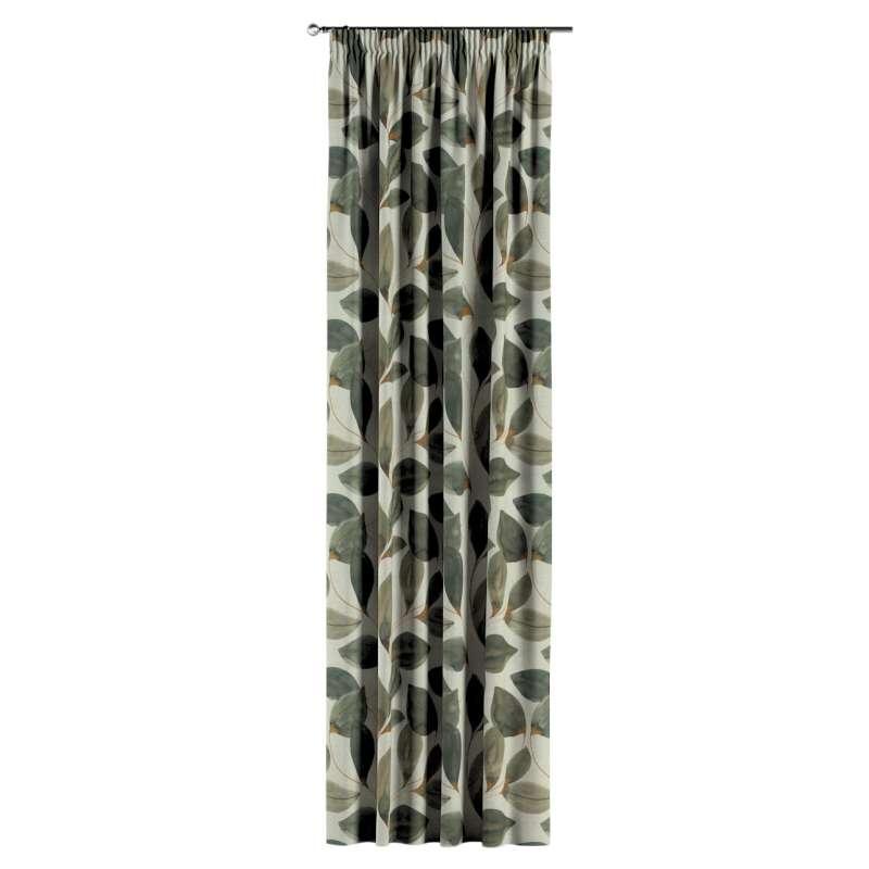 Gardin med rynkband 1 längd i kollektionen Abigail, Tyg: 143-17