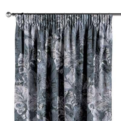 Vorhang mit Kräuselband 143-18 blau-grau Kollektion Abigail