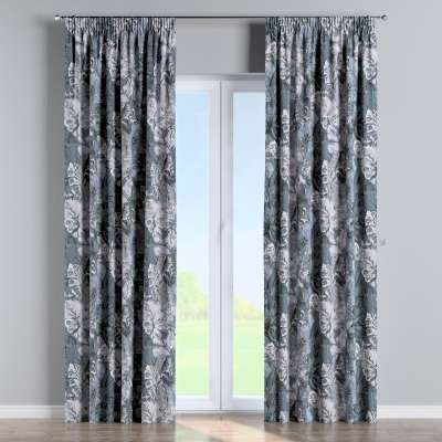 Pencil pleat curtain 143-18 grey-blue Collection Abigail