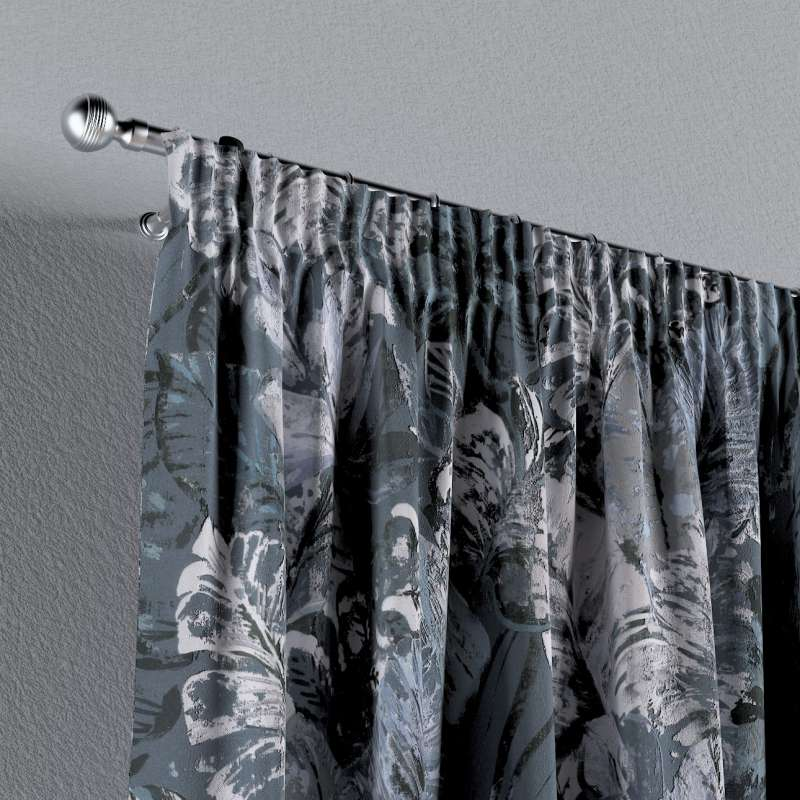 Pencil pleat curtain in collection Abigail, fabric: 143-18