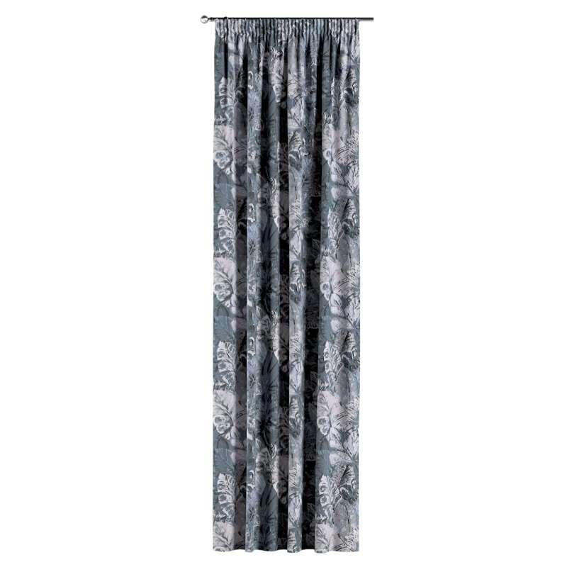 Gardin med rynkband 1 längd i kollektionen Abigail, Tyg: 143-18