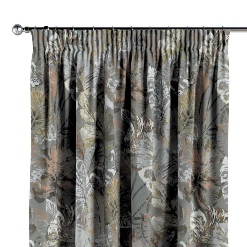 Pencil pleat curtains in collection Abigail, fabric: 143-19