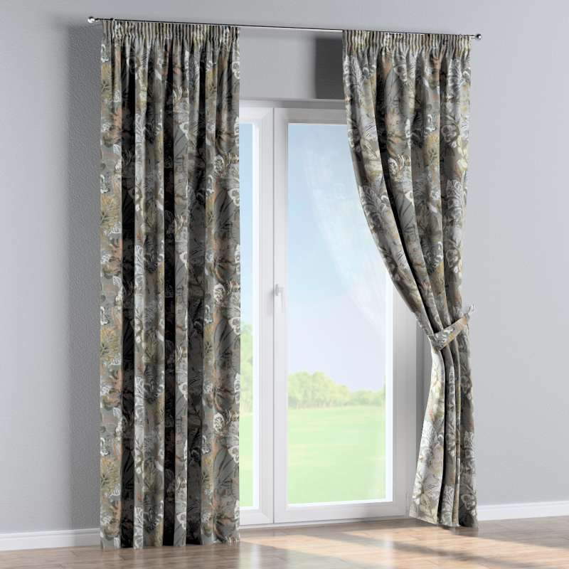 Pencil pleat curtain in collection Abigail, fabric: 143-19