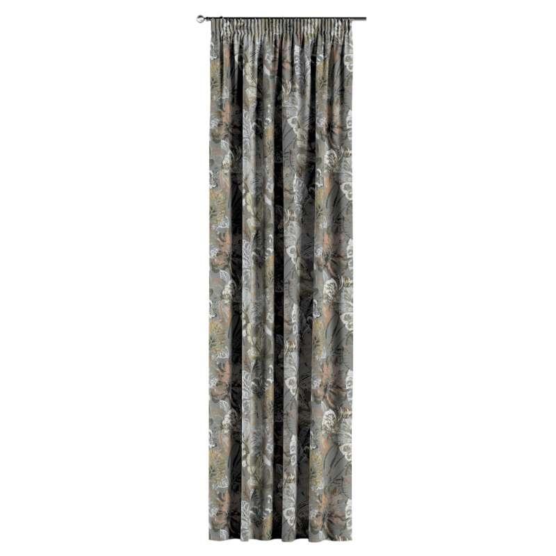 Gardin med rynkband 1 längd i kollektionen Abigail, Tyg: 143-19