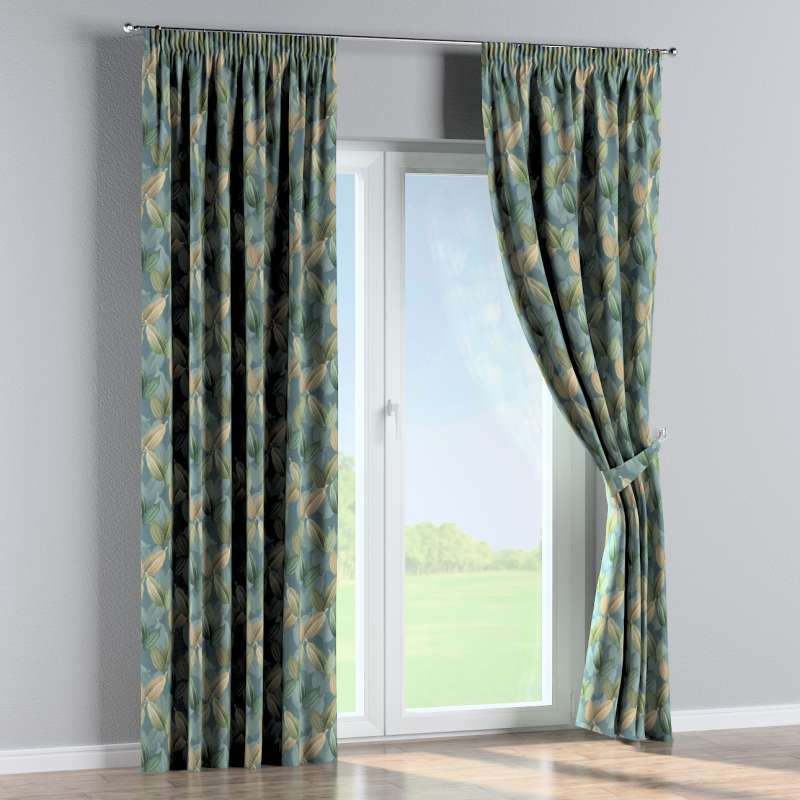 Pencil pleat curtain in collection Abigail, fabric: 143-20