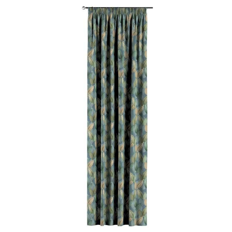 Gardin med rynkband 1 längd i kollektionen Abigail, Tyg: 143-20