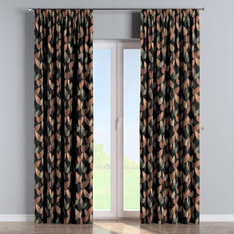 Pencil pleat curtain in collection Abigail, fabric: 143-21