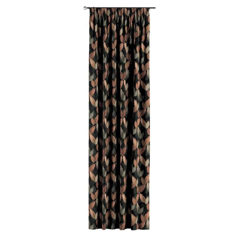 Gardin med rynkband 1 längd i kollektionen Abigail, Tyg: 143-21