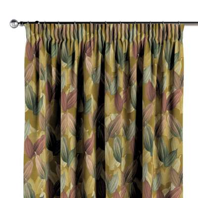 Pencil pleat curtain 143-22 mustard-green Collection Abigail