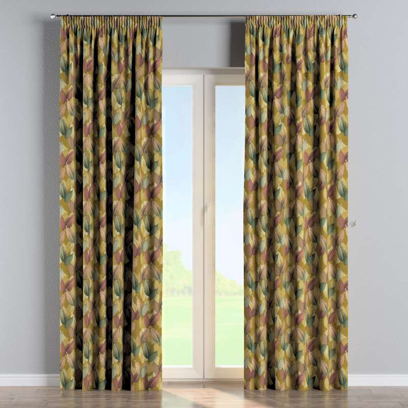 Pencil pleat curtain in collection Abigail, fabric: 143-22