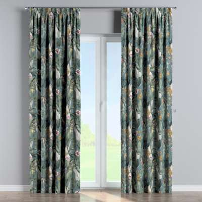 Pencil pleat curtain 143-24 green-blue Collection Abigail