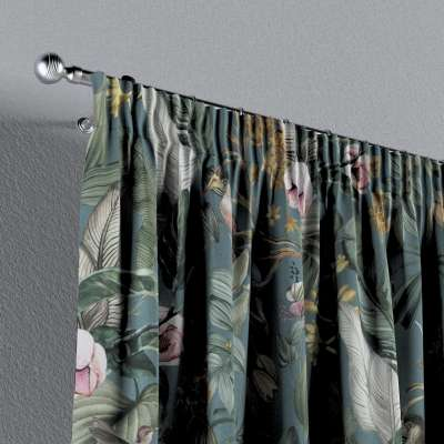 Vorhang mit Kräuselband von der Kollektion Abigail, Stoff: 143-24