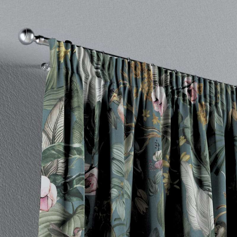 Pencil pleat curtain in collection Abigail, fabric: 143-24