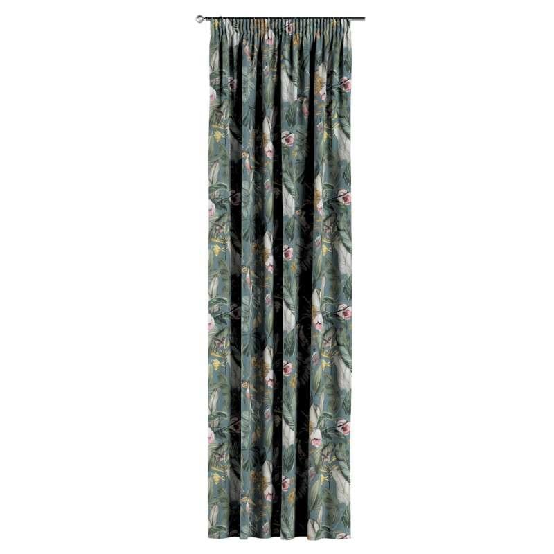 Gardin med rynkband 1 längd i kollektionen Abigail, Tyg: 143-24