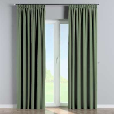 Pencil pleat curtain 704-44 green Collection Amsterdam