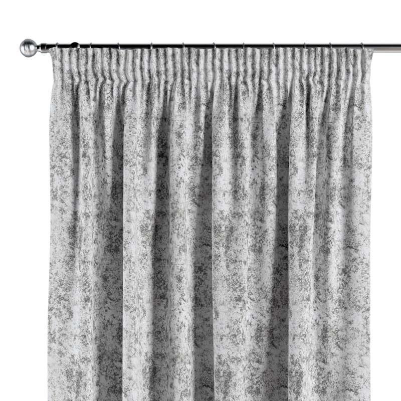 Gardin med rynkband 1 längd i kollektionen Velvet, Tyg: 704-49