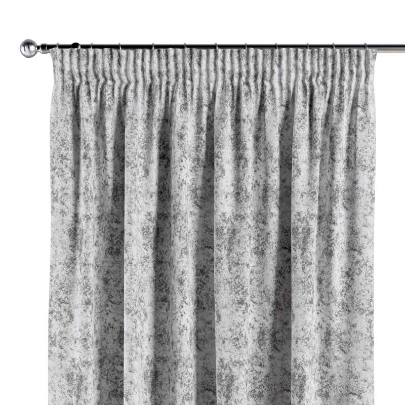 Pencil pleat curtain in collection Velvet, fabric: 704-49