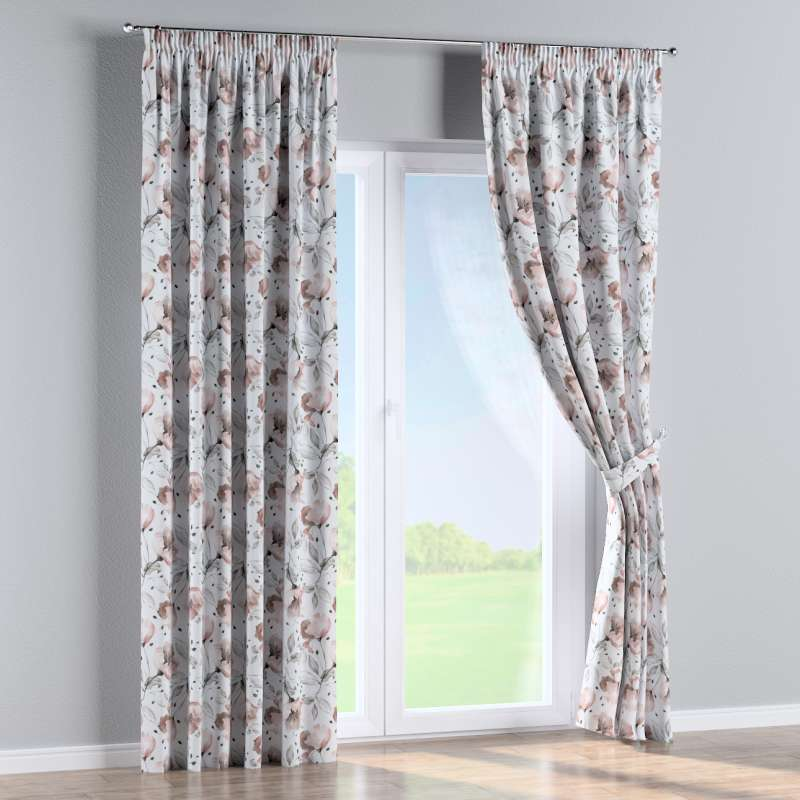 Pencil pleat curtain in collection Velvet, fabric: 704-50