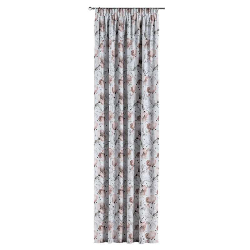 Gardin med rynkband 1 längd i kollektionen Velvet, Tyg: 704-50