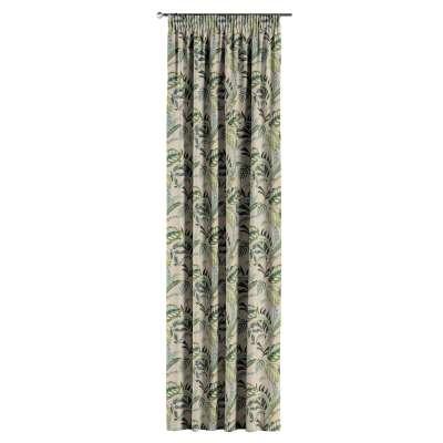 Vorhang mit Kräuselband von der Kollektion Tropical Island, Stoff: 142-96