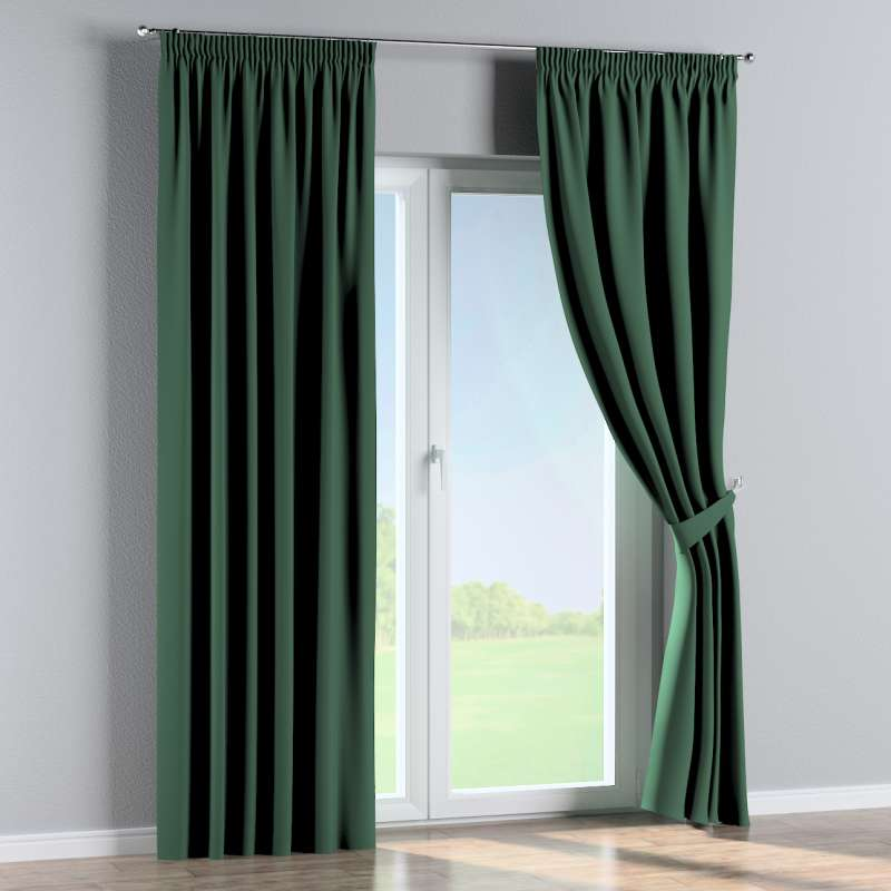 Pencil pleat curtain in collection Blackout, fabric: 269-18