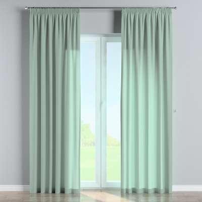 Vorhang mit Kräuselband 133-61 grün Kollektion Loneta
