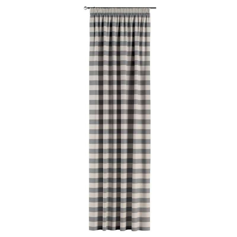 Gardin med rynkband 1 längd i kollektionen Quadro II, Tyg: 142-71