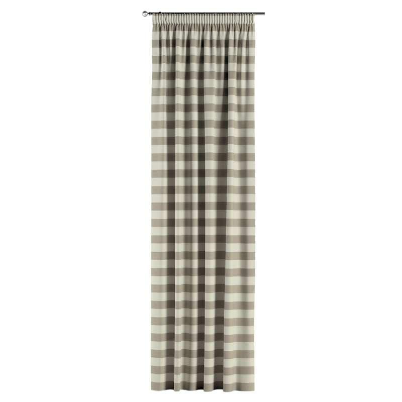 Gardin med rynkband 1 längd i kollektionen Quadro II, Tyg: 142-73