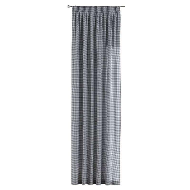 Gardin med rynkband 1 längd i kollektionen Quadro II, Tyg: 136-00