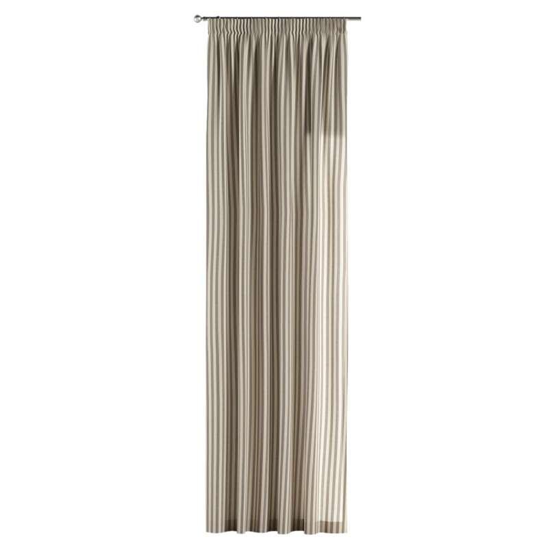 Gardin med rynkband 1 längd i kollektionen Quadro II, Tyg: 136-12