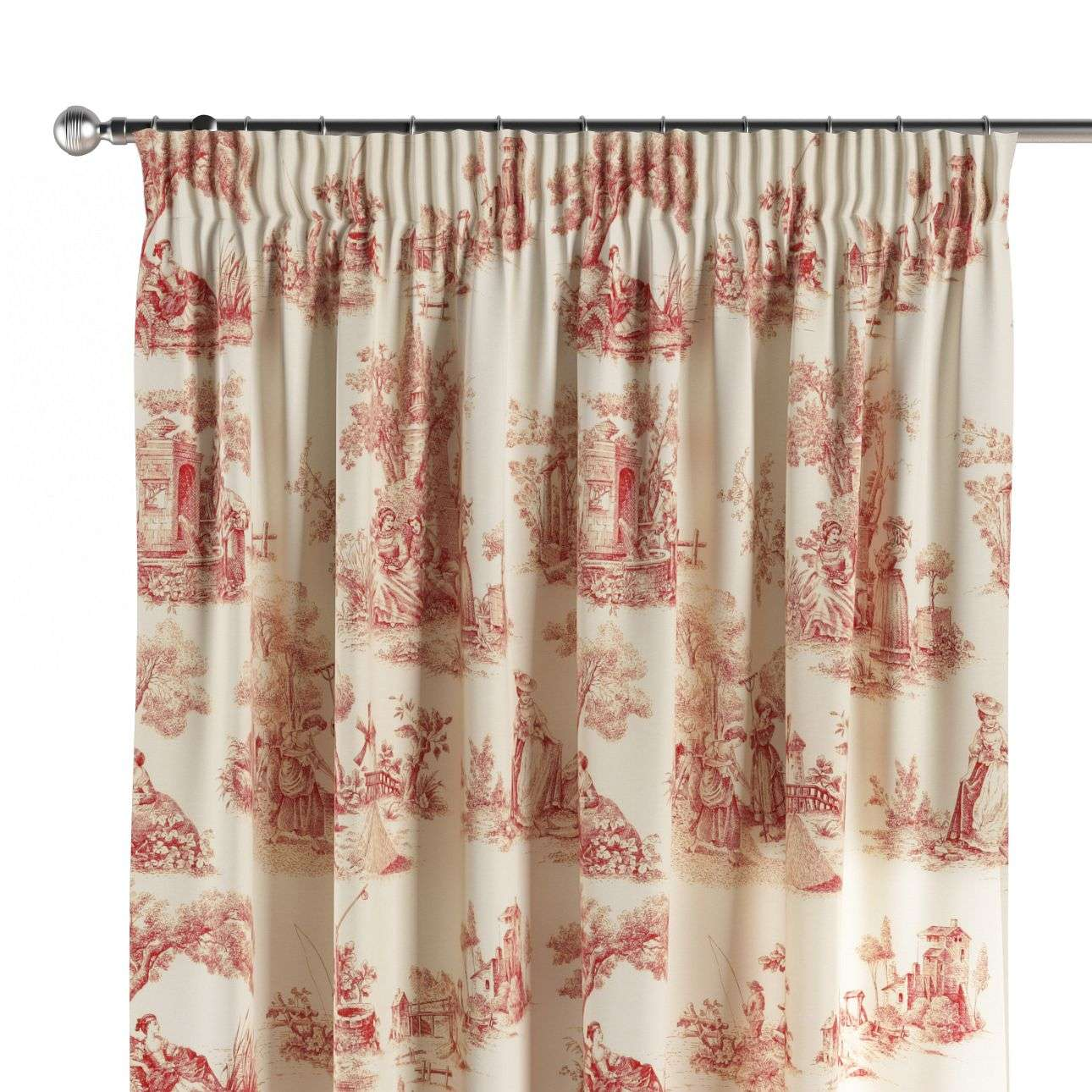 Vorhang mit Kräuselband 130 x 260 cm von der Kollektion Avinon, Stoff: 132-15