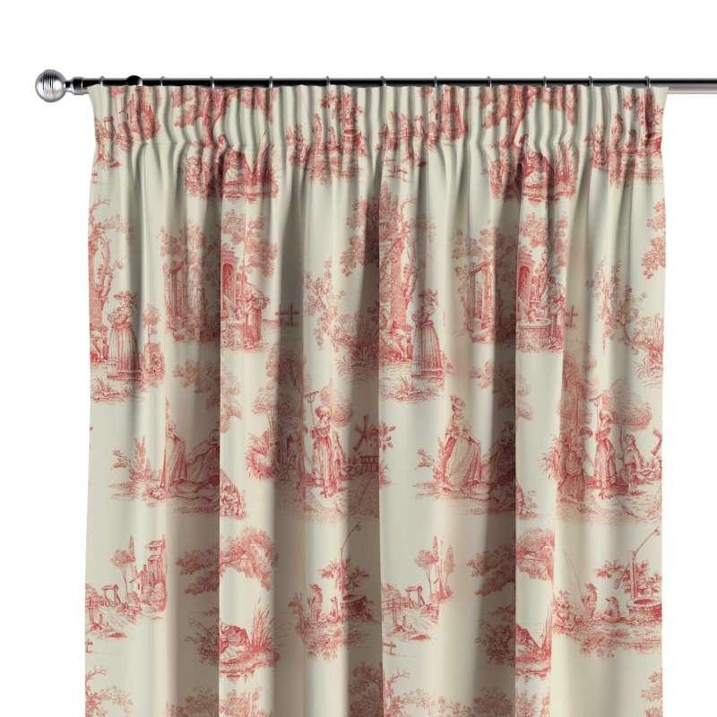 Pencil pleat curtain in collection Avinon, fabric: 132-15