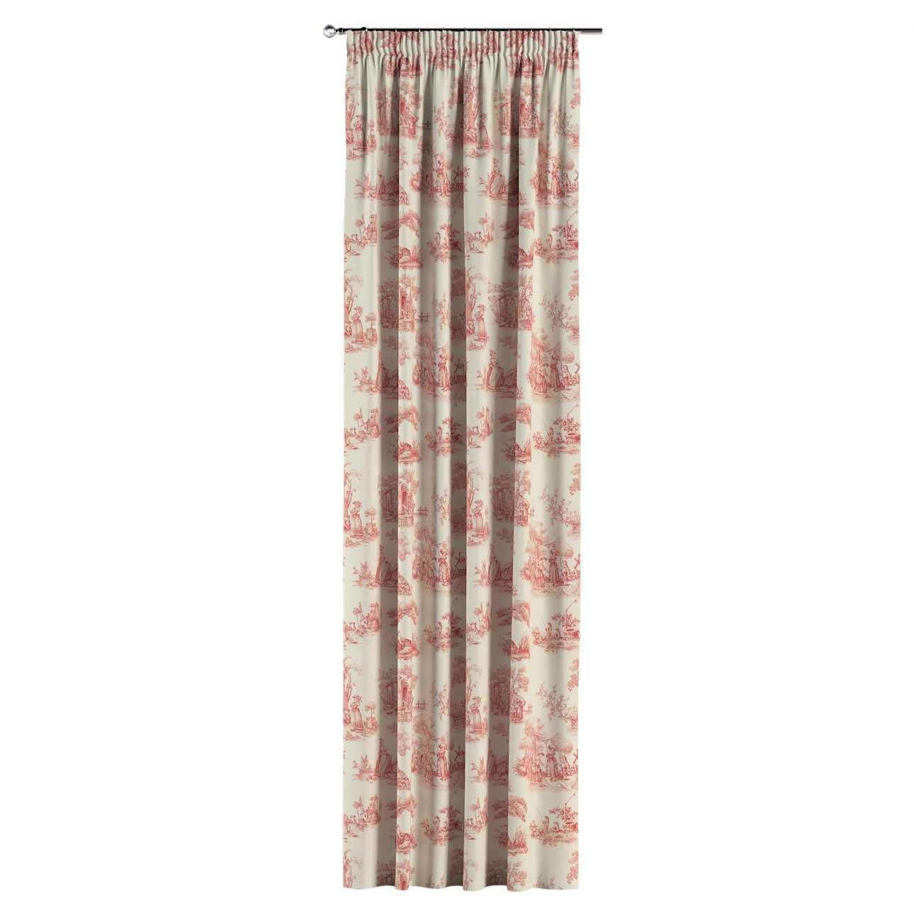 Vorhang mit Kräuselband 1 Stck. 130 x 260 cm von der Kollektion Avinon, Stoff: 132-15