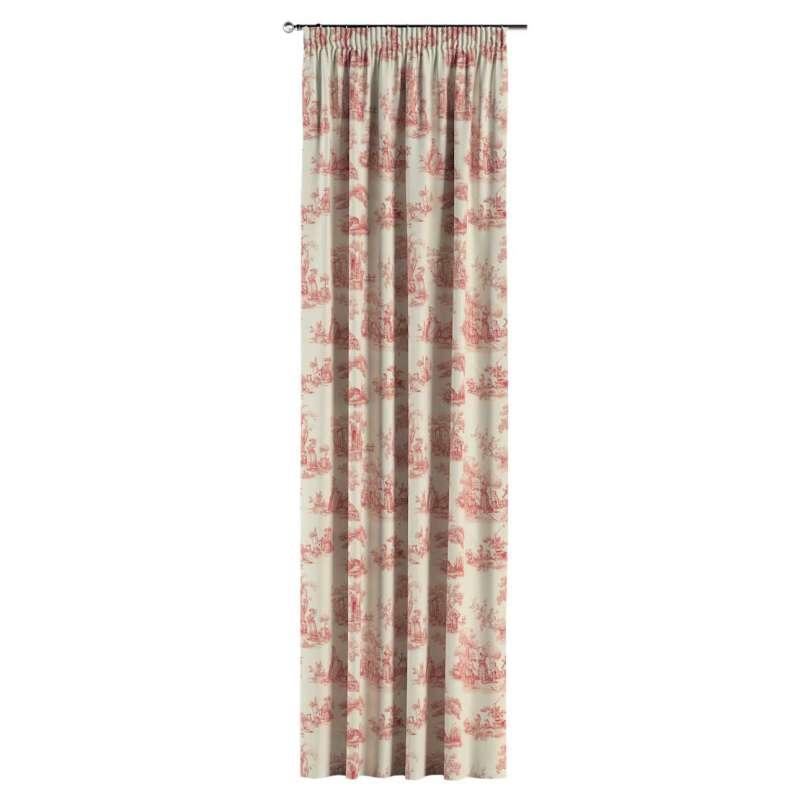 Vorhang mit Kräuselband von der Kollektion Avinon, Stoff: 132-15
