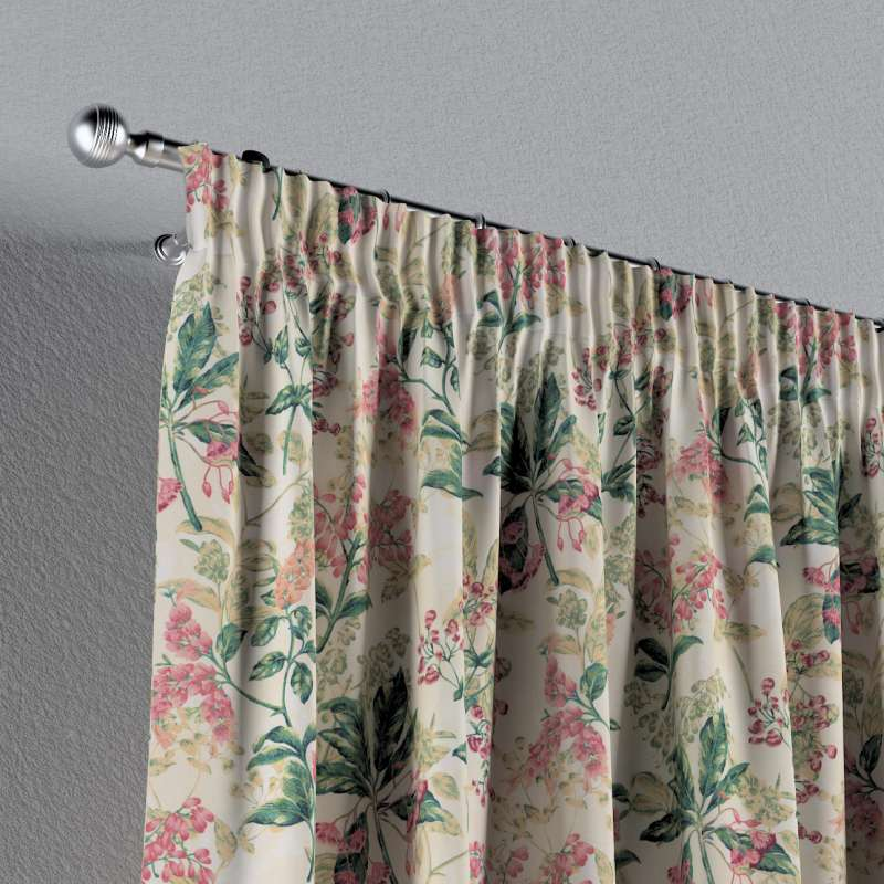 Pencil pleat curtain in collection Londres, fabric: 143-41