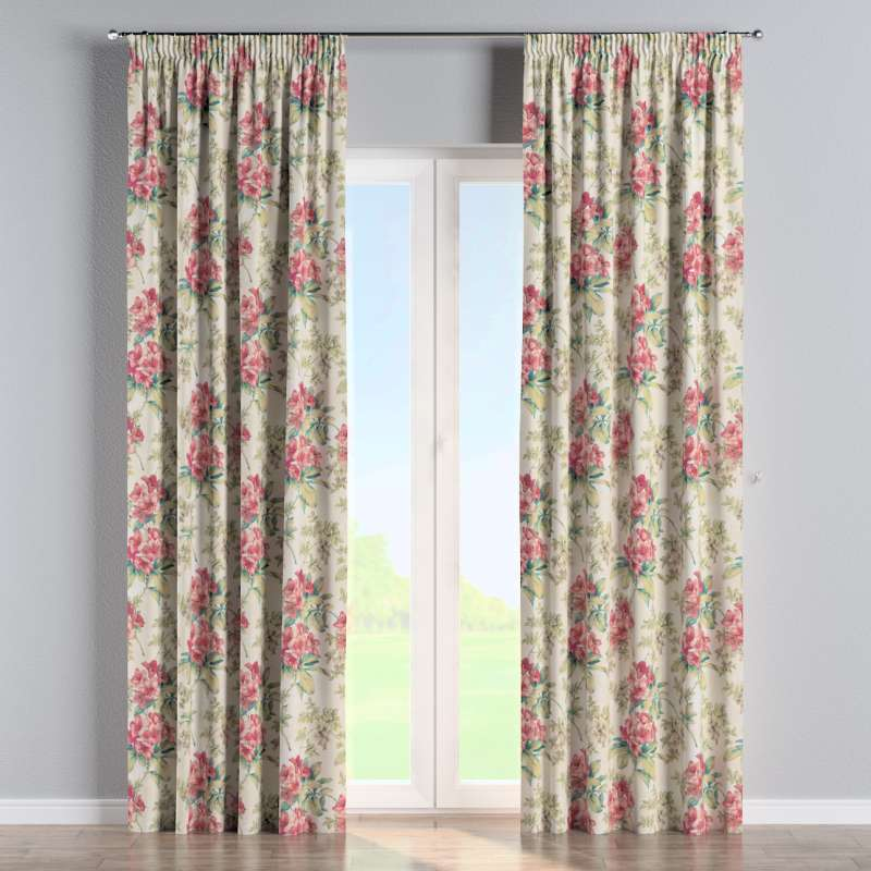 Pencil pleat curtain in collection Londres, fabric: 143-40