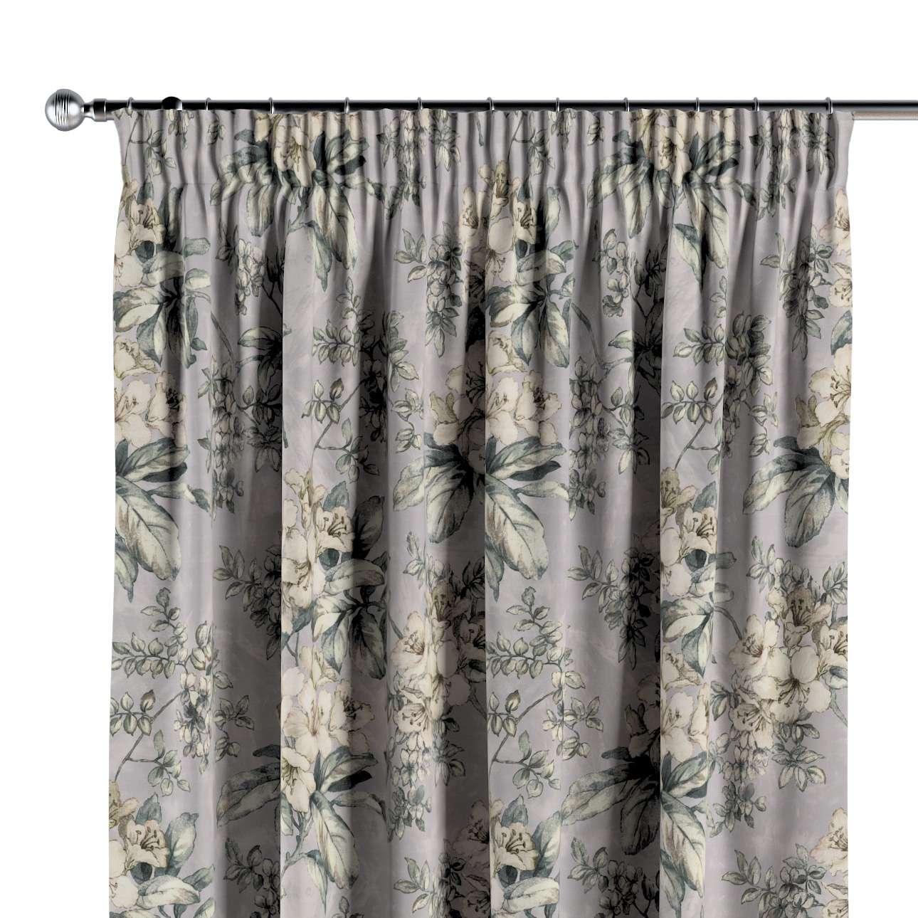 Vorhang mit Kräuselband von der Kollektion Londres, Stoff: 143-36