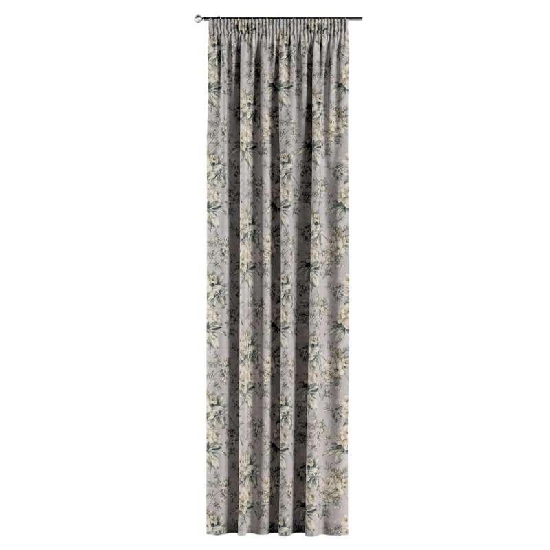 Gardin med rynkband 1 längd i kollektionen Londres, Tyg: 143-36