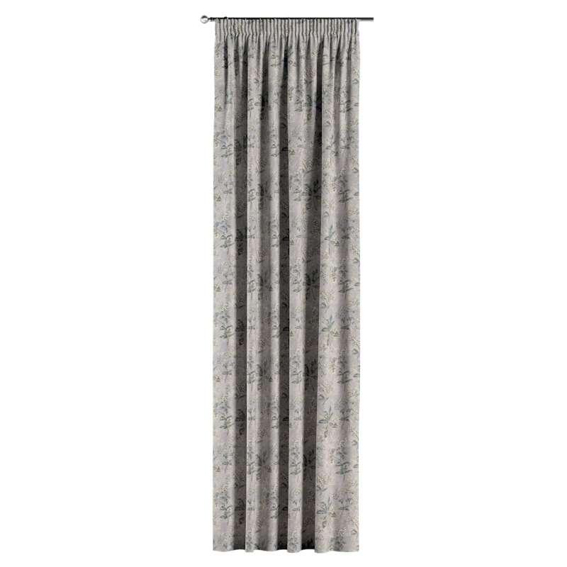 Gardin med rynkband 1 längd i kollektionen Londres, Tyg: 143-37