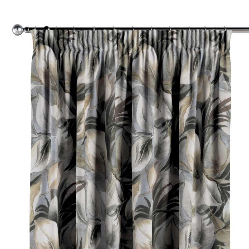 Vorhang mit Kräuselband von der Kollektion Abigail, Stoff: 143-60