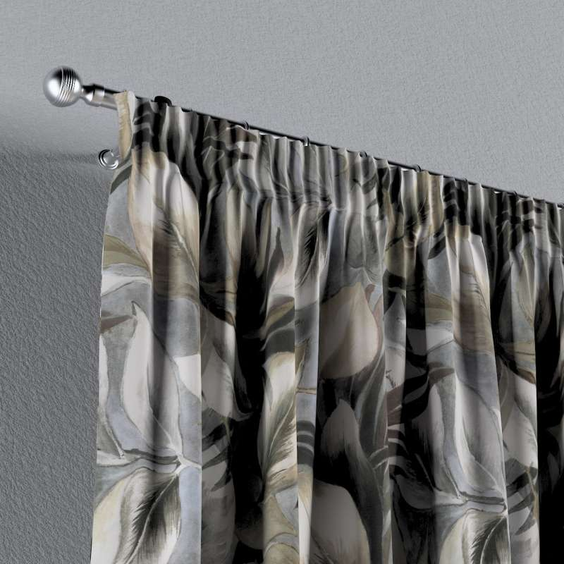 Pencil pleat curtain in collection Abigail, fabric: 143-60