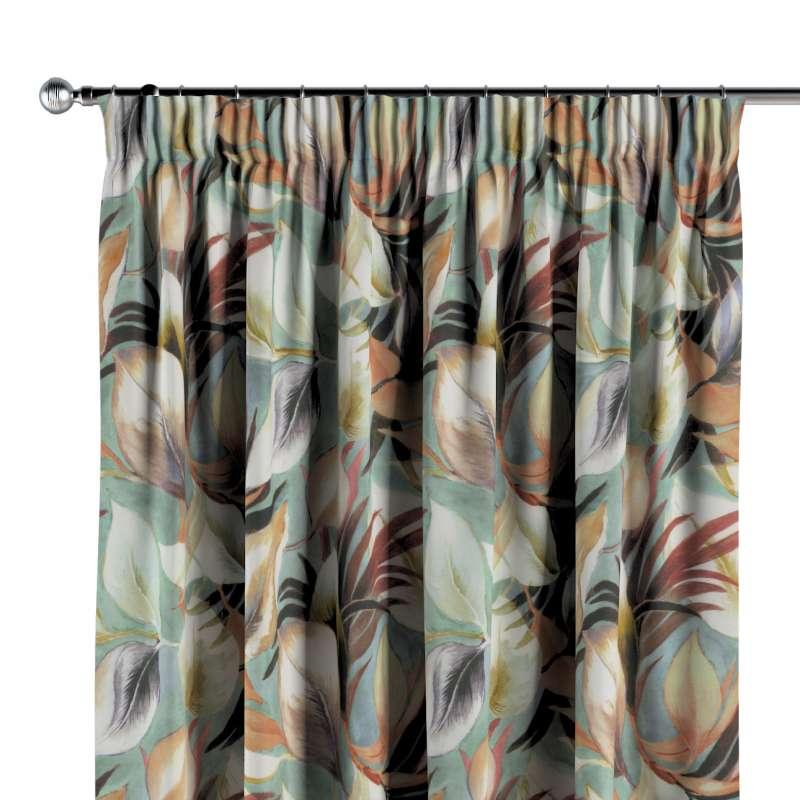 Vorhang mit Kräuselband von der Kollektion Abigail, Stoff: 143-61