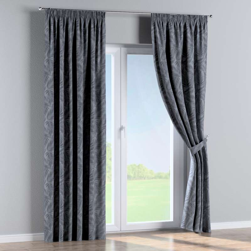 Pencil pleat curtain in collection Venice, fabric: 143-53