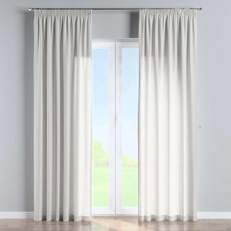 Pencil pleat curtain in collection Linen, fabric: 159-06