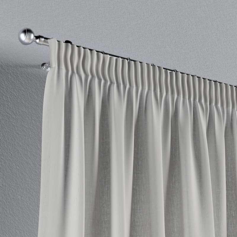 Záves na riasiacej páske V kolekcii Linen, tkanina: 159-06
